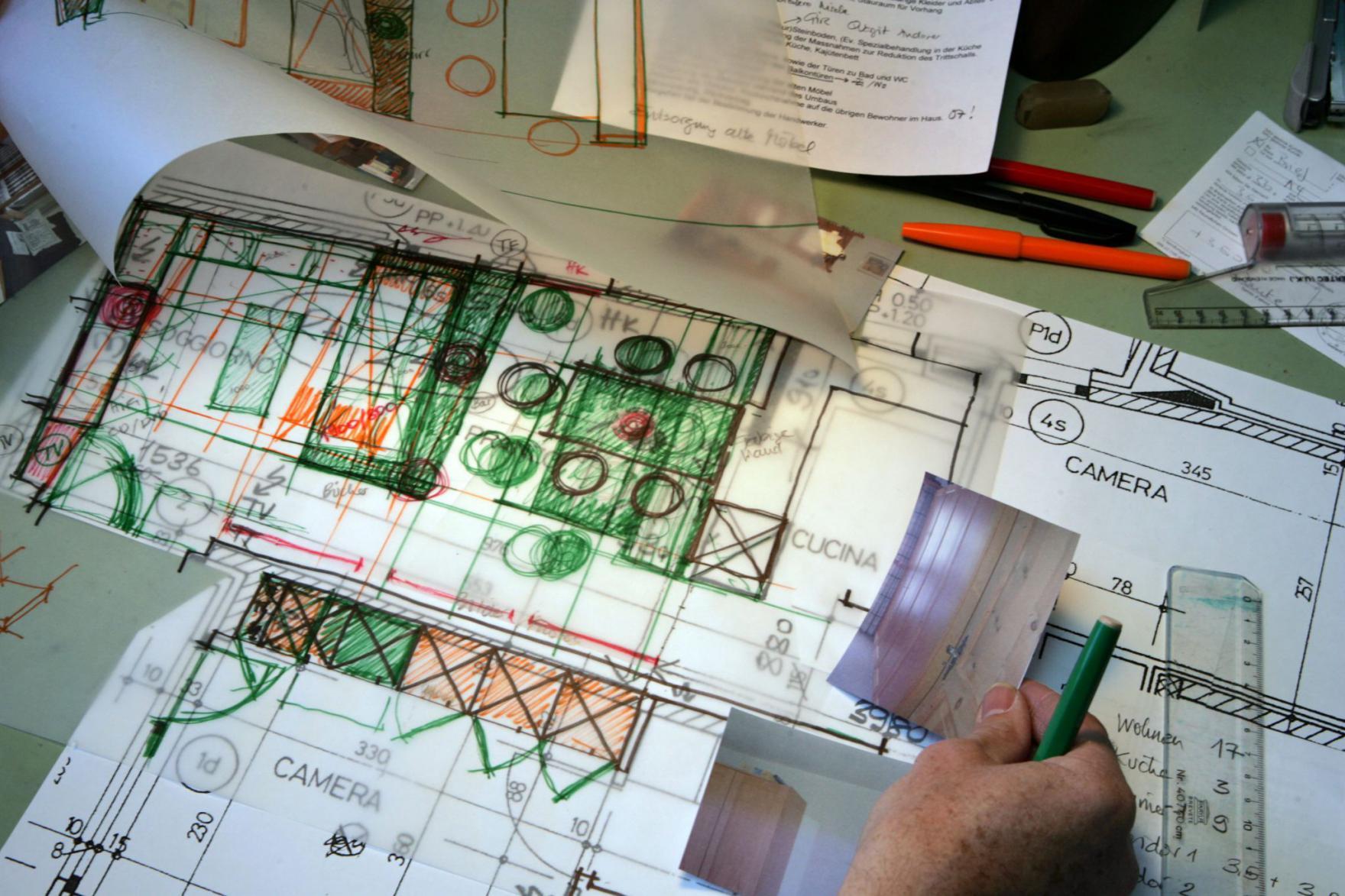 Entwurf für den Innenausbau